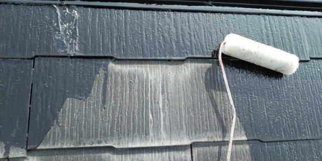 【鹿児島県鹿屋市】串良町にある縦長が特徴の住宅でコロニアル屋根の下塗りまでおこないました!屋根下塗り