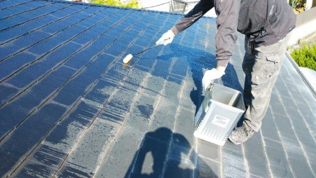 屋根下塗り塗装