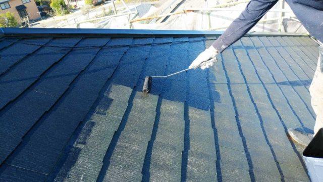 鹿児島市屋根塗装工事の様子