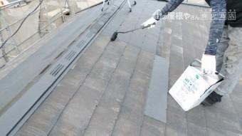 鹿児島市 屋根塗装 上塗り
