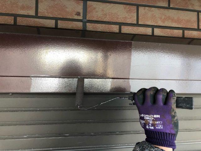 戸袋部分の手塗り工事
