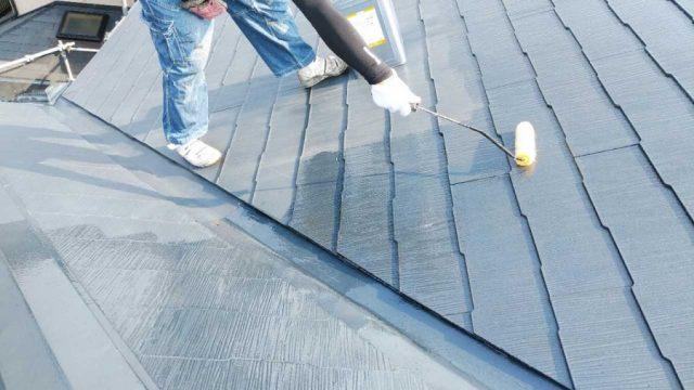 コロニアル屋根下塗り塗装