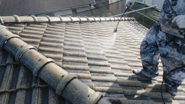鹿児島市にてモニエル瓦の塗装工事