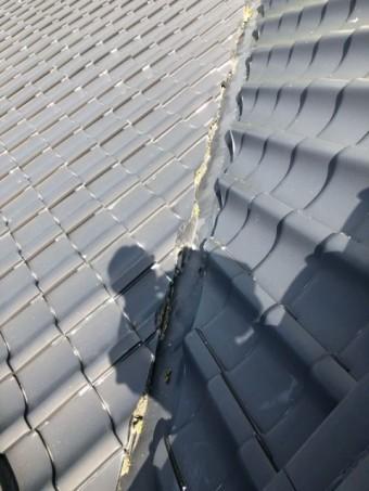 屋根工事点検の様子
