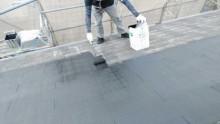 鹿児島市屋根中塗り塗装工事