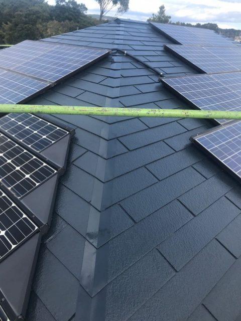 鹿児島市 太陽光屋根塗装工事