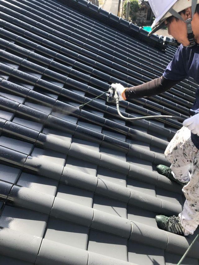 姶良市セメント屋根塗装工事