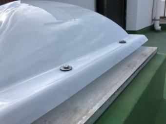 鹿児島市の陸屋根天井窓ドームの取替
