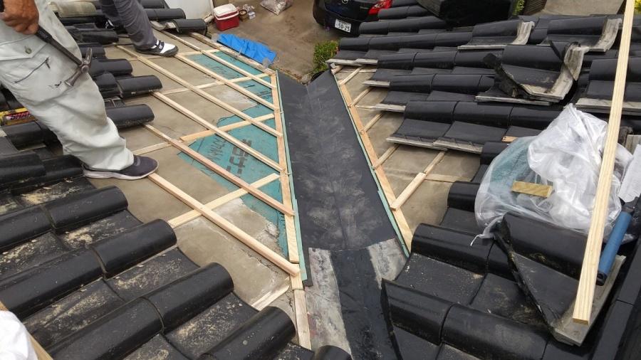 薩摩川内市谷部分の雨漏れ補修工事