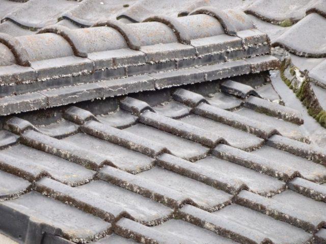 姶良市 塗装前の屋根