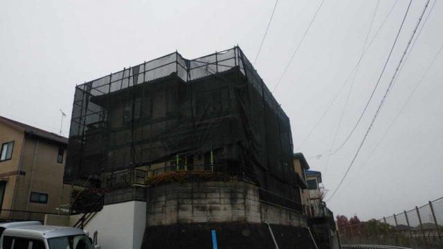鹿児島市屋根・外壁塗装工事の様子