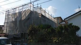 鹿児島市屋根塗装工事 養生