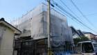 鹿児島市屋根塗装工事 着工の様子