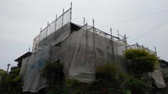 鹿児島市の屋根塗装工事着工