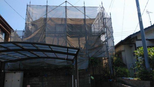 鹿児島市で行われる塗装工事着工の写真