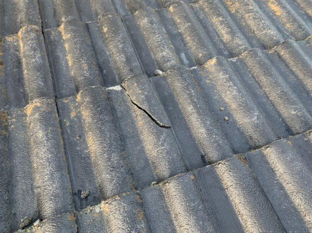 雨漏れ発生 屋根の様子