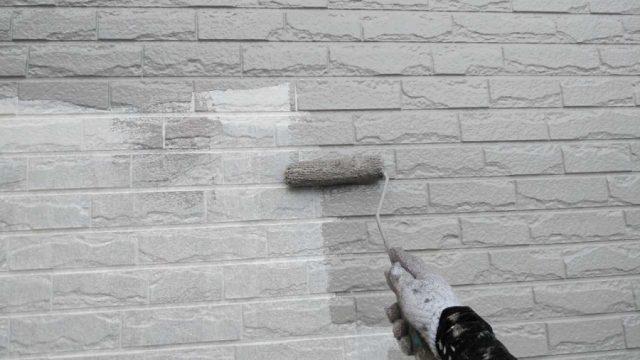 塗装工事 中塗り