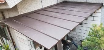 鹿児島市の玄関ポーチ屋根の葺き替え事例4