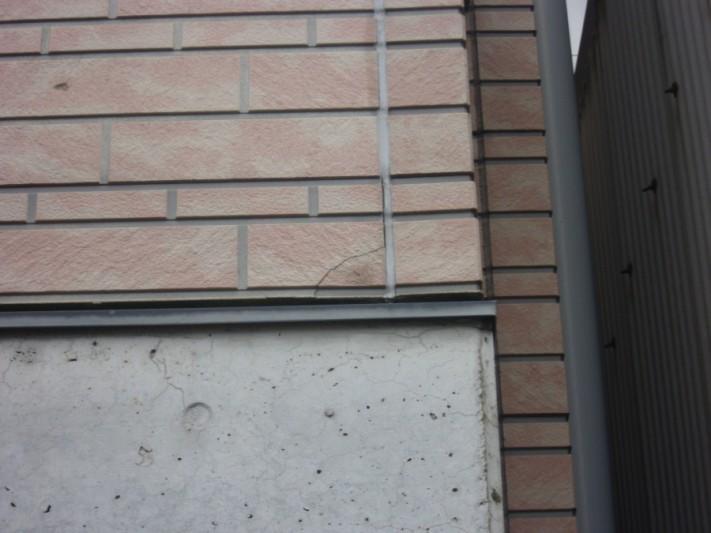 外壁のひび割れの様子