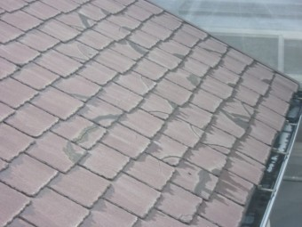 鹿児島市 スレート屋根の割れ
