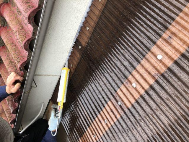 鹿児島市サンルームからの雨漏れ補修