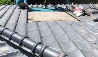 鹿児島市の雨漏れ補修防水シート