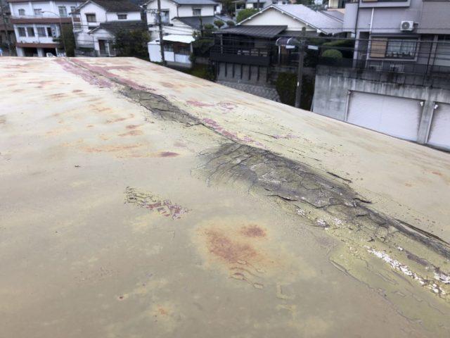 雨漏れ屋根の様子