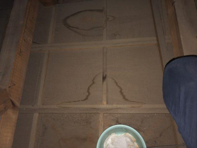 鹿児島市桜ケ丘の雨漏れ補修工事の様子