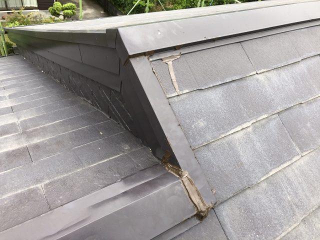 雨漏れ補修前の様子
