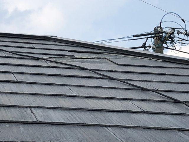 台風被害コロニアル屋根