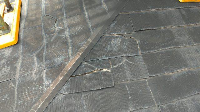 鹿児島市 スレート屋根ヒビ割れ