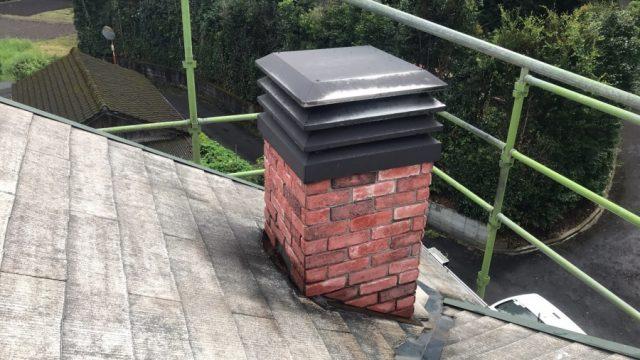 煙突塗装 既存状況