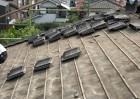 屋根の葺き替え工事撤去の様子