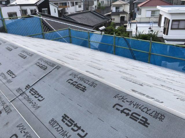 鹿児島市屋根の葺き替え工事防水シート張り