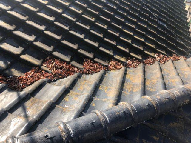鹿児島市 棟板金からの雨漏れ
