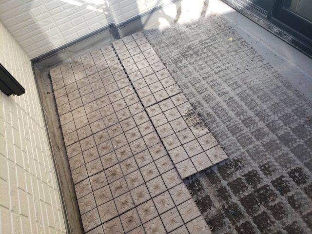 鹿児島市にてベランダからの雨漏れ補修防水工事を行います