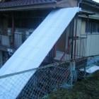 階段に屋根を付ける
