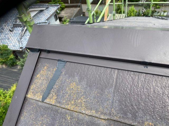 日置市伊集院町にてスレート屋根の雨漏れ補修工事を行いました