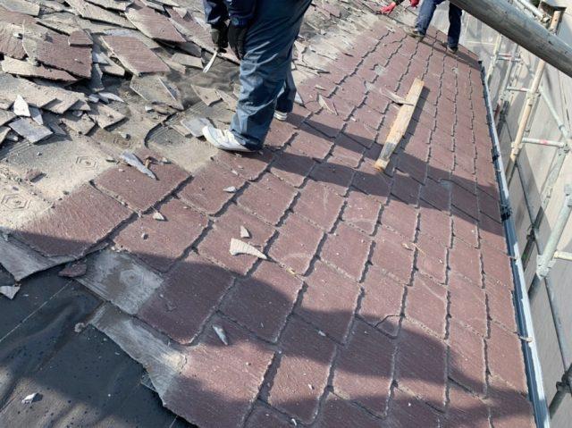 鹿児島市 スレート屋根解体