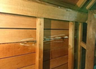屋根裏部屋 雨漏れ発生部分