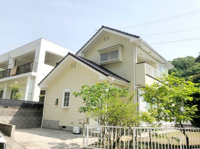 鹿児島市の屋根・壁塗装工事完成の様子