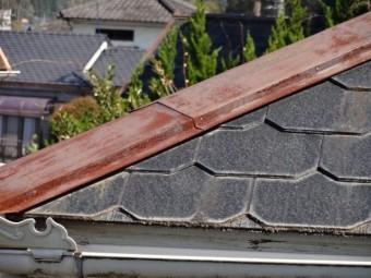 スレート屋根 棟板金