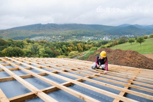 屋根リフォーム 葺き替え工事の様子