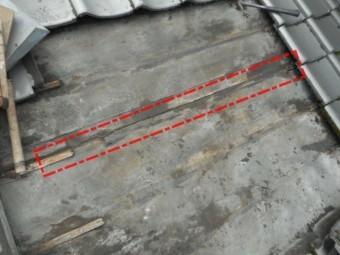 雨漏りの原因 防水シートの傷み