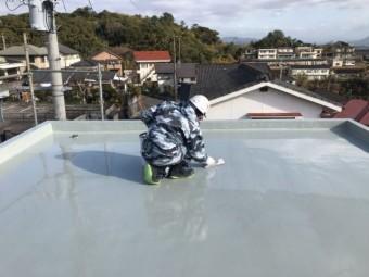 屋上防水 工事中