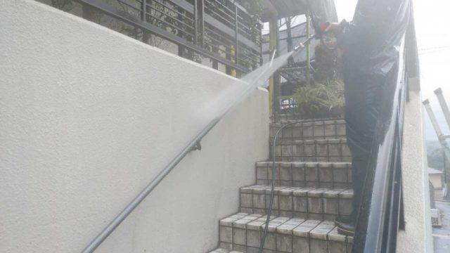 鹿児島市外装工事の様子