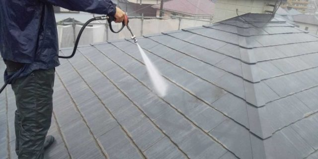 鹿児島市屋根塗装工事 高圧洗浄