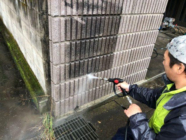 鹿児島市高圧洗浄の様子