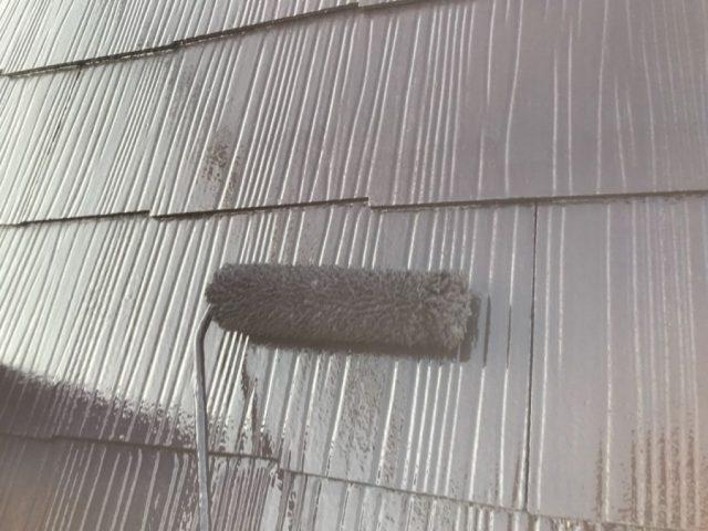 鹿児島市での屋根塗装 上塗り1回目