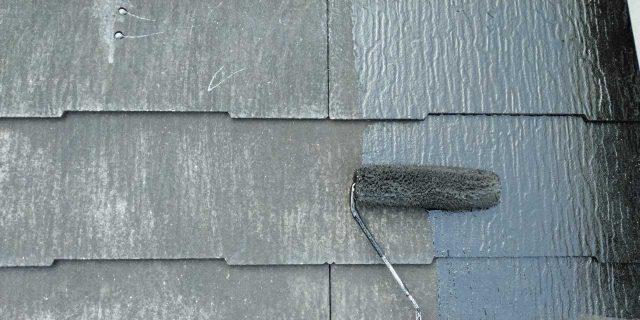 【鹿児島県曽於郡】大崎町にある住宅で屋根塗装の様子を紹介します!中塗り